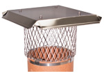 View: Round Stainless Steel Band Mount - For Use on Clay or Metal Chimneys
