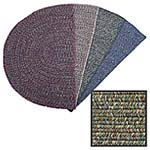 View: 4 Foot Wide Braided Polyester Fireplace Rugs