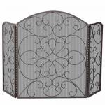 View: Ornate Arched Folding Fireplace Screens