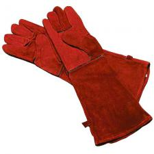 """Fireplace Gloves - Red 20"""" Long"""