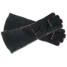 "Fireplace Gloves - Black 20"" Long"