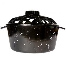 Black Woodstove Steamer with Speckles