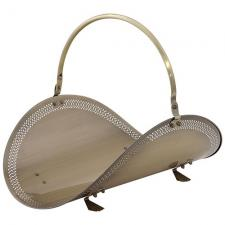 Uniflame w-4336 Antique Brass Wood Basket  with Filigree