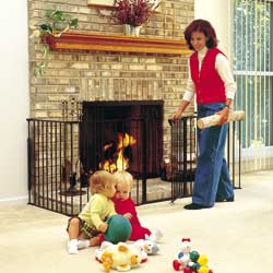 Hearth Safety Gate for childproofing your fireplace