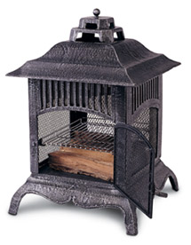 Charming Cast Iron Chiminea Pagoda