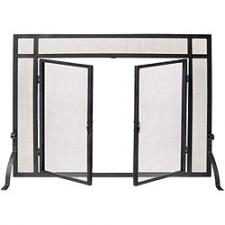 """Woodfield 61235 Black Screen With Doors  - 39"""" Wide x 31"""" High"""
