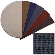 4' Wide Charcoal Blue Olefin Hearth Rug