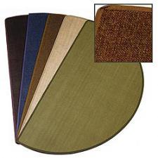 5' Wide Fiberglass Brown Hearth Rug