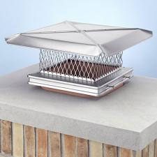 "12 X 16"" Gelco Stainless Steel Chimney Cap - 13110"