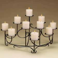 Spandrels Fireplace Candelabra