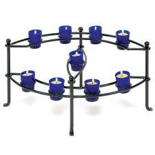 Cobalt Votives Fireplace Candelabra