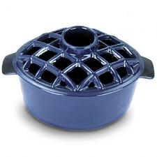 Woodstove Steamer - 2.2 Quart Blue Enamel