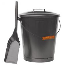 Uniflame c-1724b Olde World Iron Ash Bucket and Shovel Set