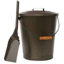 Uniflame c-1726b Bronze Fireplace Ash Bucket and Shovel Set