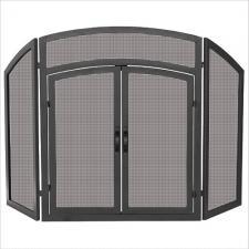 "Uniflame s-1178 Black Screen with Doors  52"" Wide x 32"" High"