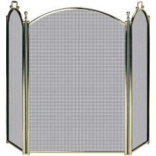 "Solid Brass Fireplace Screen -  54"" Wide x 32"" High"
