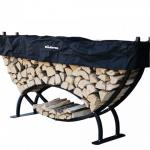 View: Woodhaven Large Crescent Firewood Rack