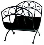 View: Uniflame w-1035 Black Wrought Iron Log Holder