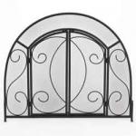 "View: Uniflame s-1096 Wrought Iron with Doors - 39"" Wide x 32"" High"