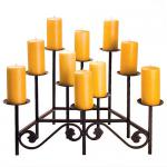 View: Black- 10 Candle Fireplace Candelabra