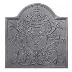 "View: Louis XV Cast Iron Fireback  - 19"" H x 23"" W"