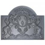 "View: Deer Cast Iron Fireback  - 24"" H x 28"" W"