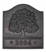 "View: 18"" W x 20"" H Great Oak Cast Iron Pennsylvania Fireback - 61095"