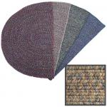 View: 4' Wide Braided Multi Beige Hearth Rug