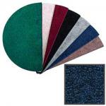 View: 4' Wide Polyester Blue Hearth Rug