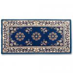 "View: 44"" Wide Blue Rectangle Wool Hearth Rug"