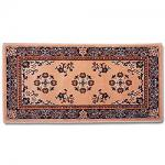 "View: 44"" Wide Beige Rectangle Wool Hearth Rug"