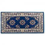 "View: 56"" Wide Blue Rectangle Wool Hearth Rug"