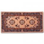 "View: 56"" Wide Beige Rectangle Wool Hearth Rug"