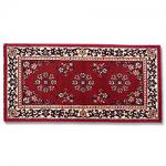 "View: 56"" Wide Burgandy Rectangle Wool Hearth Rug"