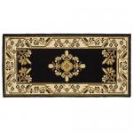 "View: 44"" Wide Black Rectangle Wool Hearth Rug"