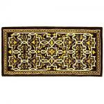 "View: 56"" Wide Deep Olive Rectangle Wool Hearth Rug"