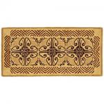 "View: 56"" Wide Art Deco Rectangle Wool Hearth Rug"