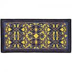 "View: 56"" Wide Deep Blue Rectangle Wool Hearth Rug"