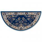 "View: 44"" Wide Blue Half Round Wool Hearth Rug"