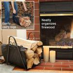 View: Black Scroll Log Holder With Canvas Carrier TOP CHOICE