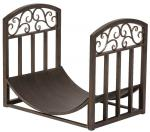 View: Black Wrought Iron Log Holder  TOP CHOICE