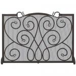 "View: Uniflame S-1084 Black Fireplace Screen - 48"" Wide x 33"" High"