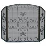 """View: Uniflame S-1981 Graphite Fire Screen -  50"""" Wide x 31"""" High"""